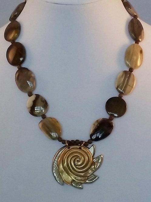 Petrified Wood & Sun Spiral