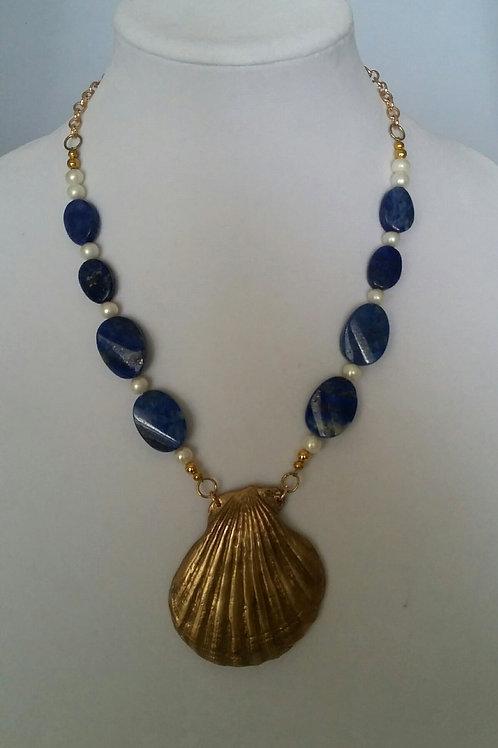 Seashell Scallop & Lapis Lazuli