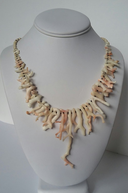 Authentic Natural White Coral Branch Necklace