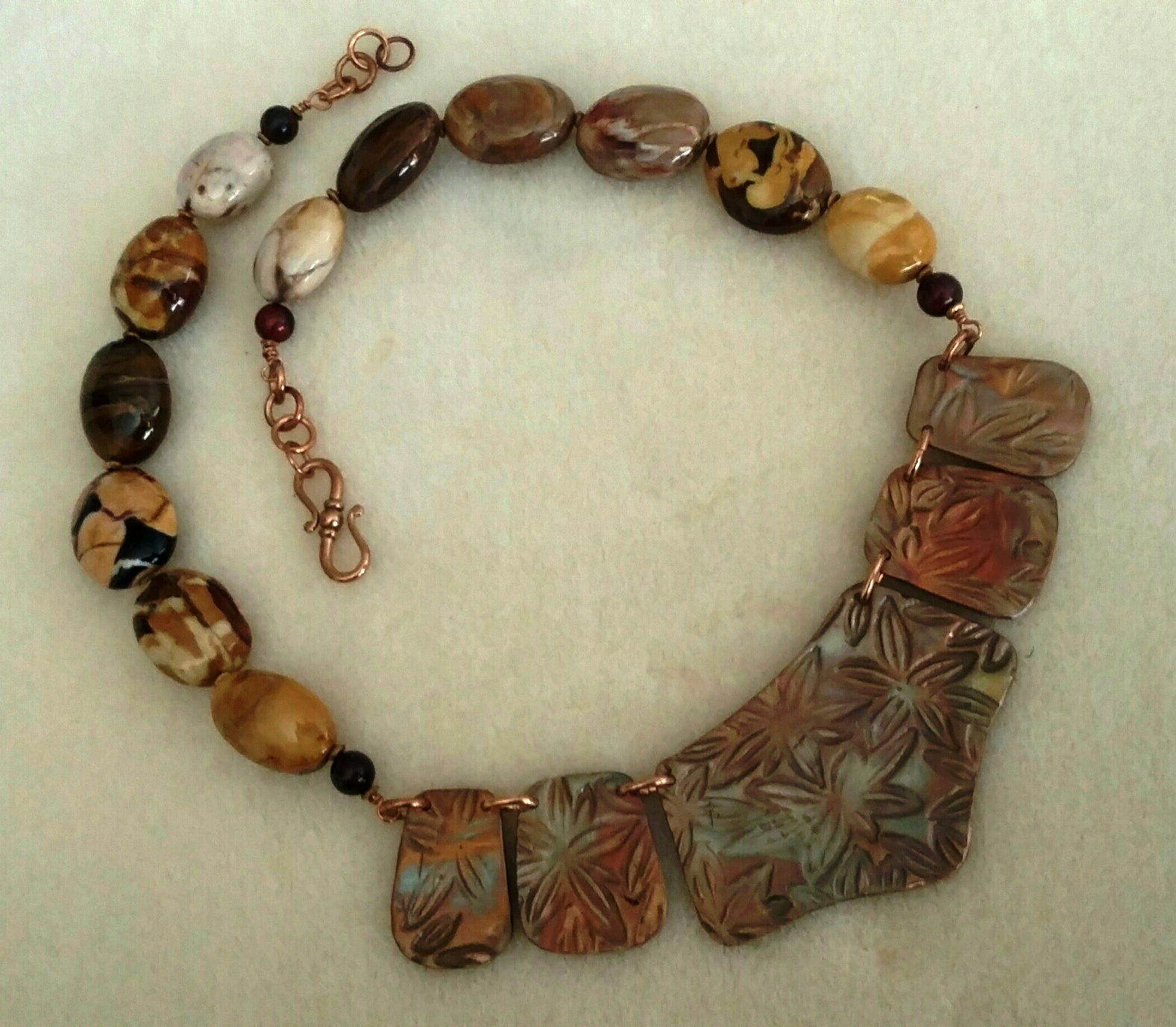 Bronze Leaves & AZ Petrified Wood