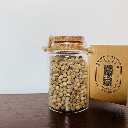 GLASS JAR 50G KAMPOT WHITE PEPPER