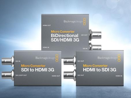 BMD 推出新款Micro Converter 3G系列轉換器