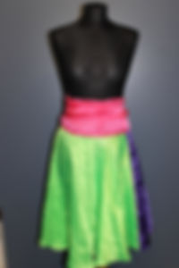 Showtanz Kostüm Wickelrock bunt zu verkaufen