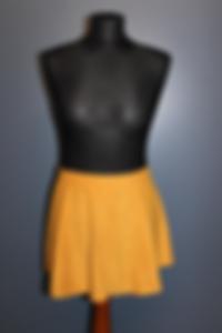 Showtanz Kostüm Samtrock gelb zu verkaufen