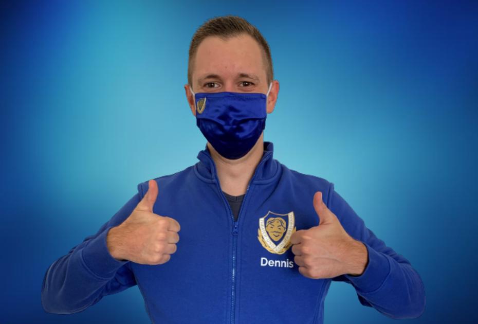 Mund-Nasen-Masken vom Theater- und Karnevalsverein Blau-Weiß 09 Ehrang