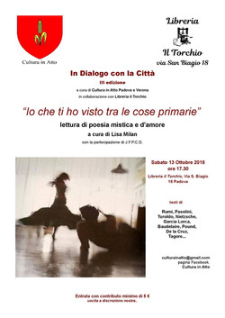 Evento ottobre 2018 Padova