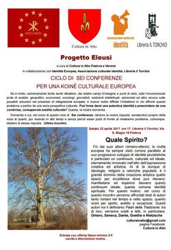 Evento aprile 2017 Padova