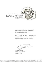 Kulturpreis Stadt Trier 2015