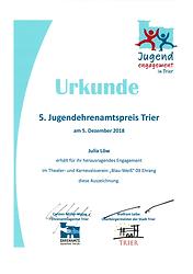 Jugendehrenamtspreis Stadt Trier