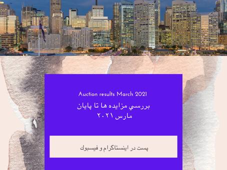 بررسي مزايده ها در آخر ماه مارس ٢٠٢١