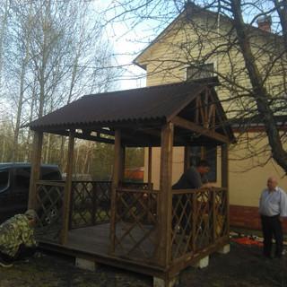 Вариант 3*3 метра с покраской и двухскатной крышей