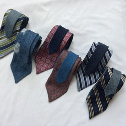 Hey guys!looking for a hip set of ties_  Go to _recycledbluesdenimcompany for reversible vintage den