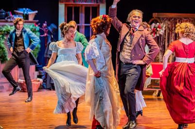 Wynn Harmony and the Cast of A Christmas Carol  A Christmas Carol Titan Theatre Company