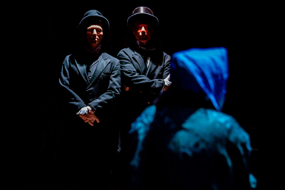 Kevin Stanfa and Alan Ross as the Businessmen  A Christmas Carol Titan Theatre Company