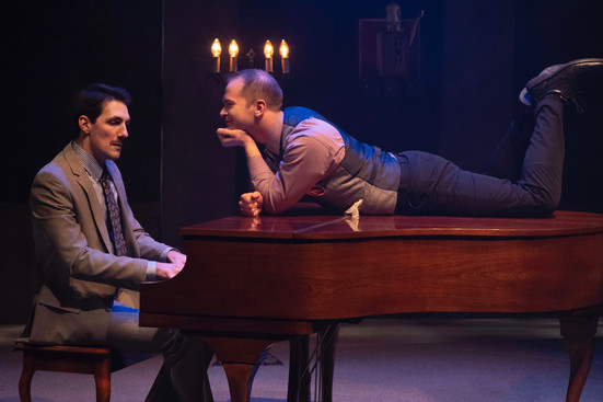 Adam LaSalle and David Corlew  Murder For Two Actors Theatre of Indiana 2020     Photo by Ed Stewart
