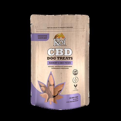 Koi CBD Dog Treats | Immune Support – Blueberry & Sweet Potato