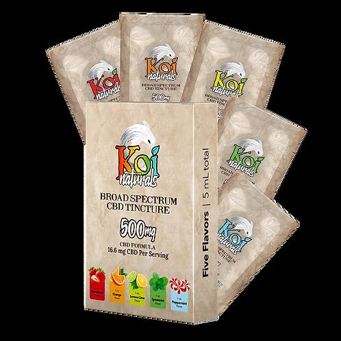 Koi Naturals Broad Spectrum CBD Oil Tincture | Variety Pack (5 mL)