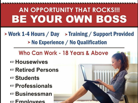 Work From Home Opportunity....