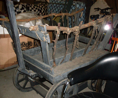 Wagon Cart with Tree Limbs