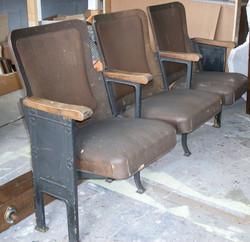 Theatre Seat vintage set of 3