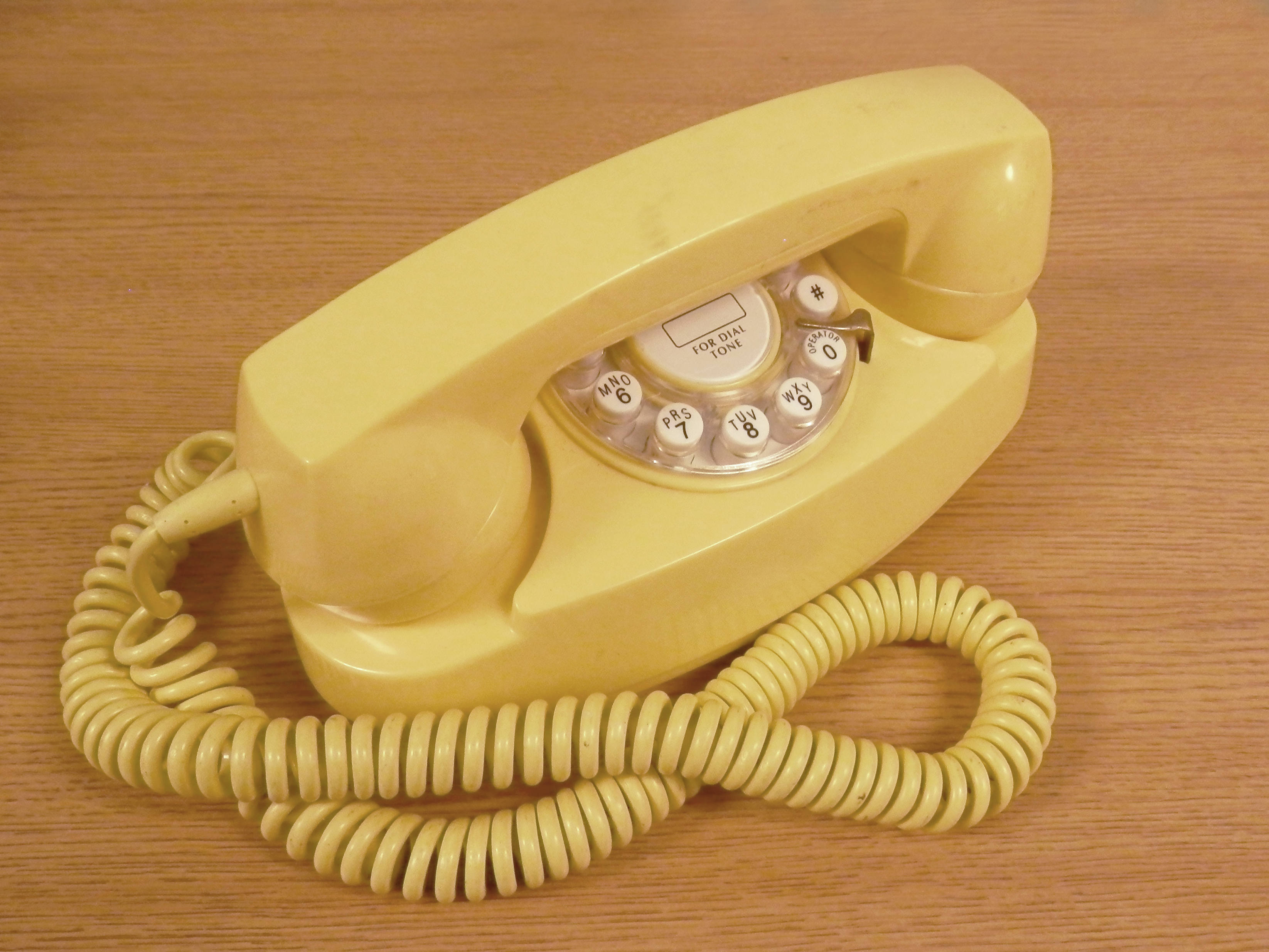Princess Phone yellow faux rotary