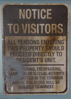 Sign - Notice to Visitors
