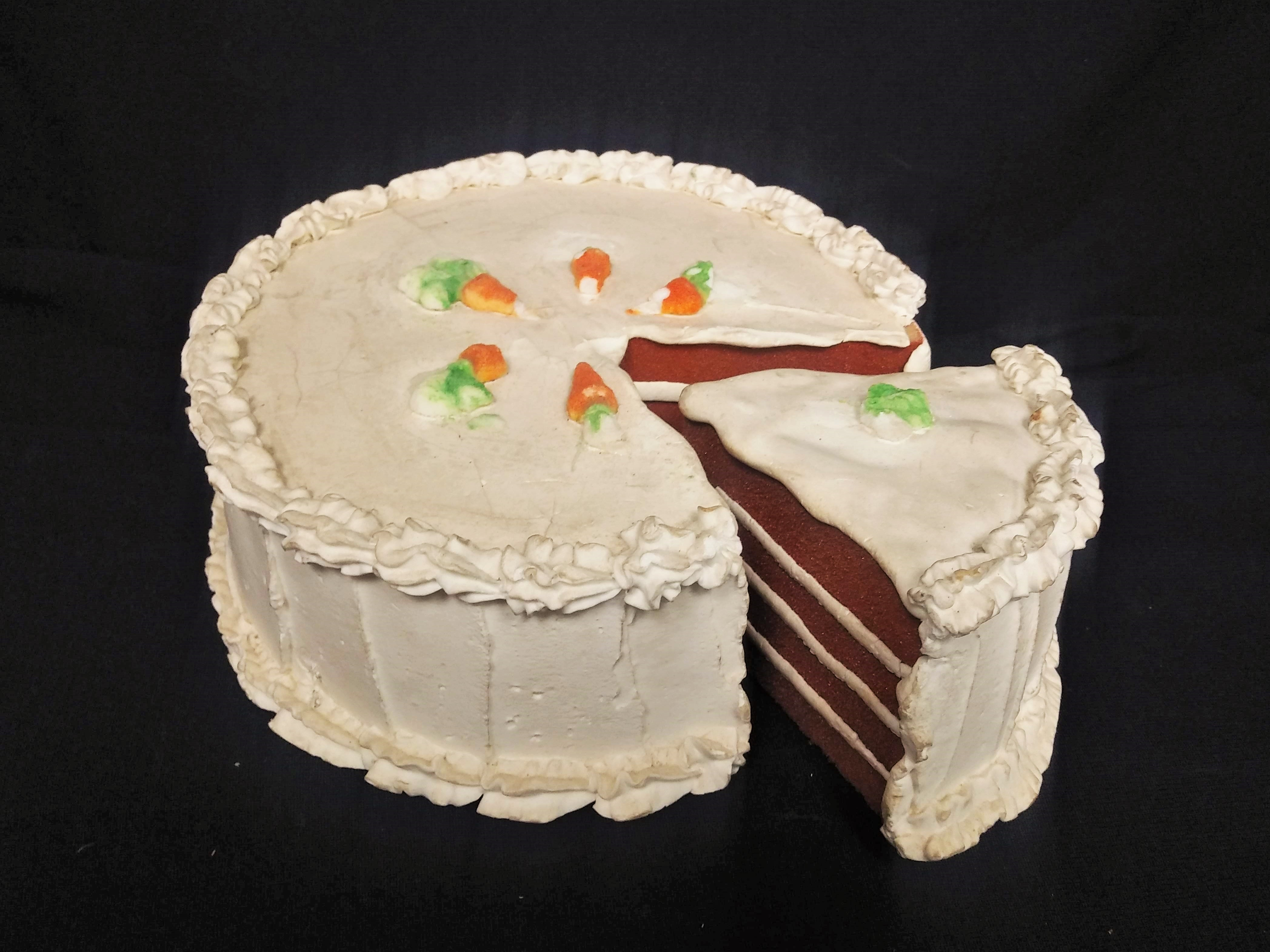 Carrot Cake with a Slice
