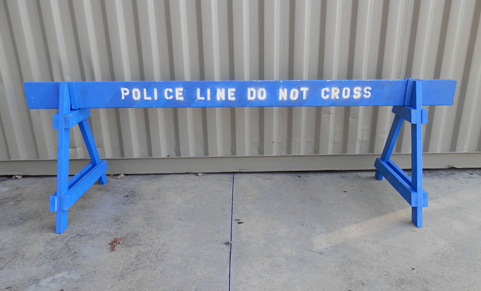 Police Line Wood Barricade