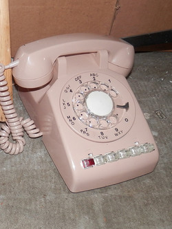 Office Rotary Phone multiline pink