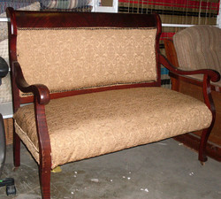 Vintage Love seat with Curved Arms