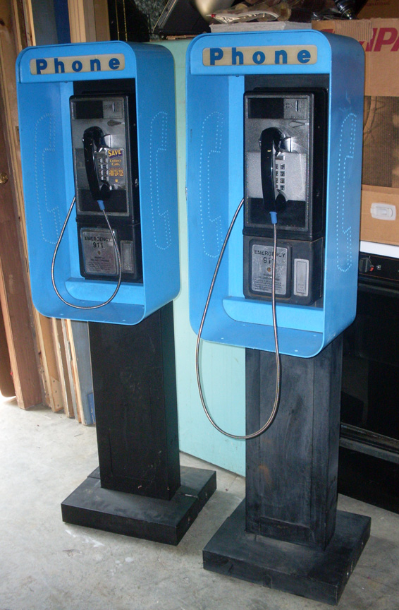 Pay phones - pedestal cabinets