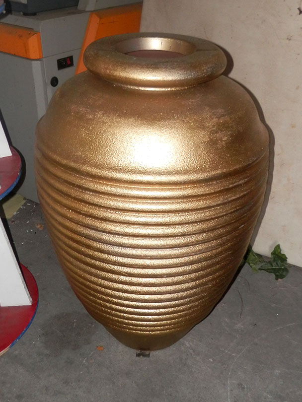 Ribbed Gold Vases