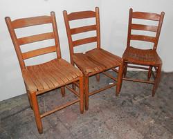 Wood Slat Chairs