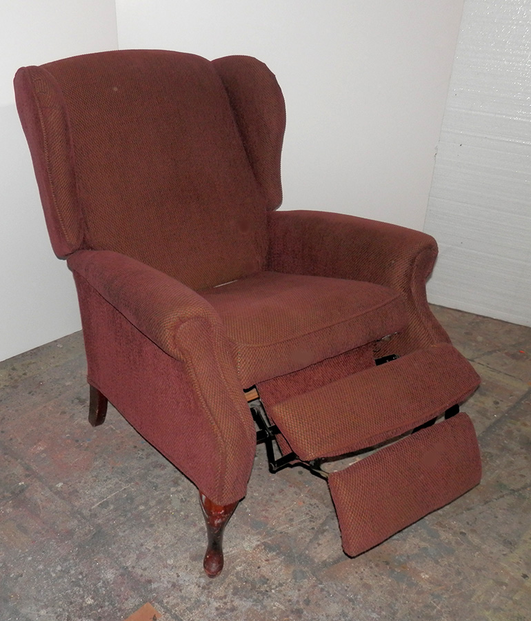 Brown Tweed Recliner