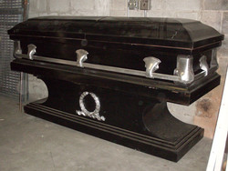 Black Coffin with matching stand