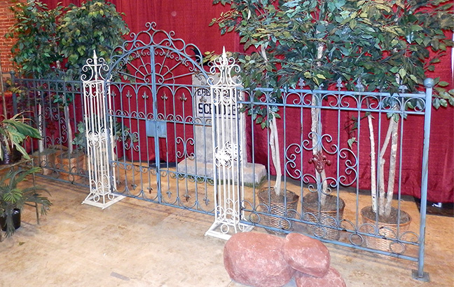 French Garden Gates with Fence