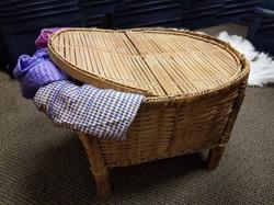Wicker Coffee Table Hamper w Storage