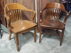Bankers Chairs with Arms - wood