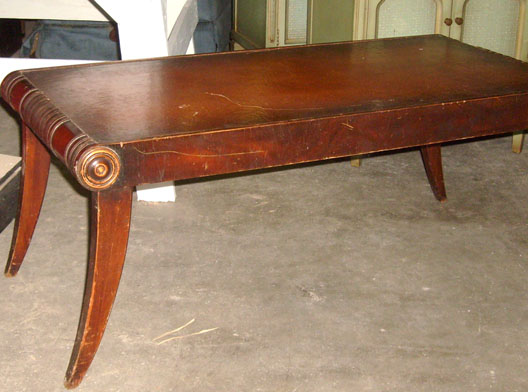 Coffee Table - w leather top_md