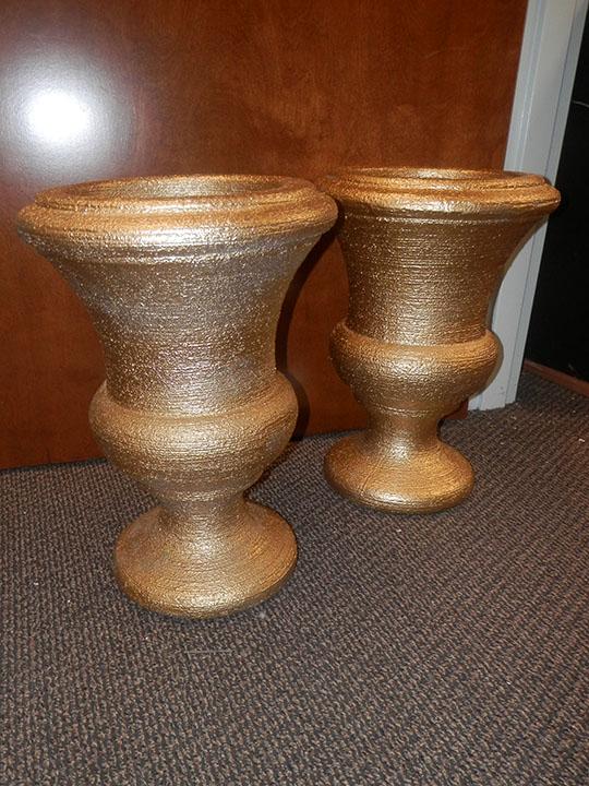 Gold Urn Pair
