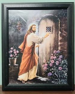 Framed Painting - Jesus at Door