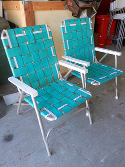 Fold Up Lawn Chairs pair