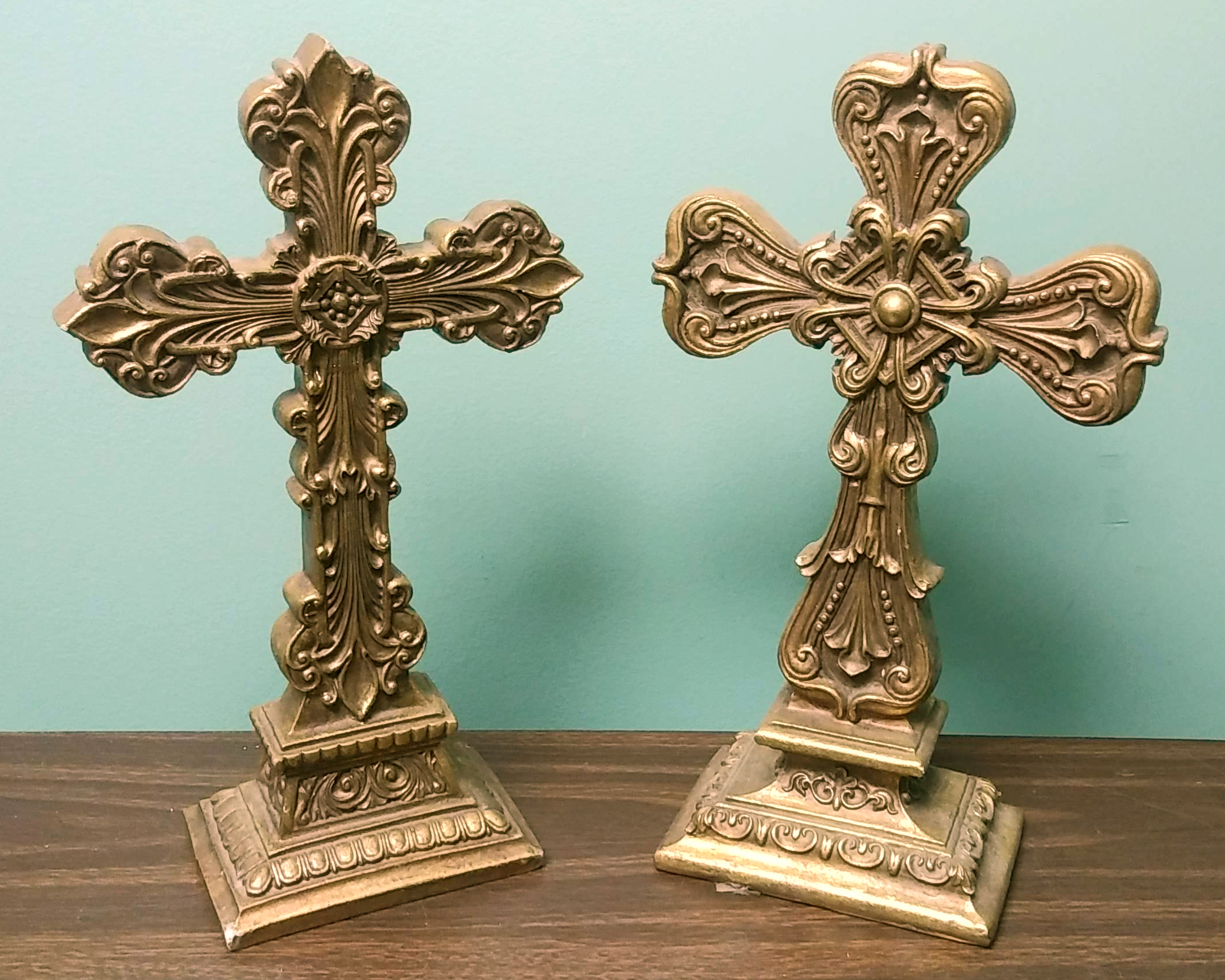 Brass Crosses for Table