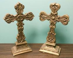 Brass Crosses for Table