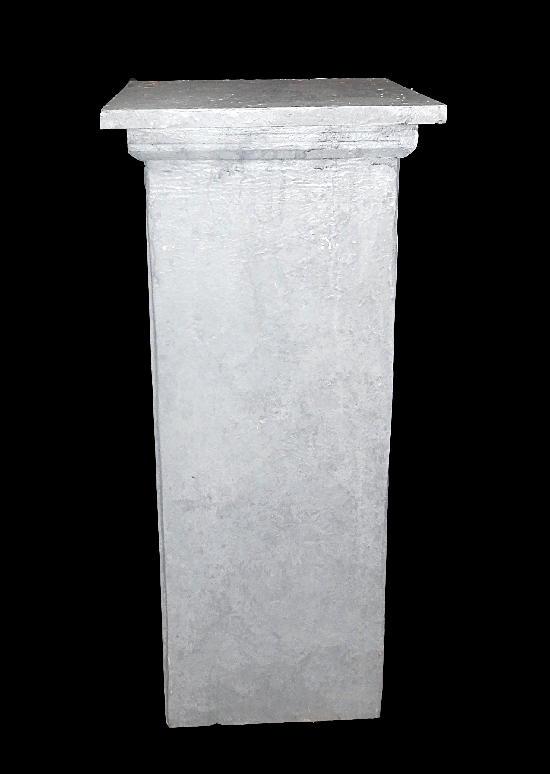 Grey Square Pedestals
