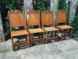 Chairs wood midieval Set of 4