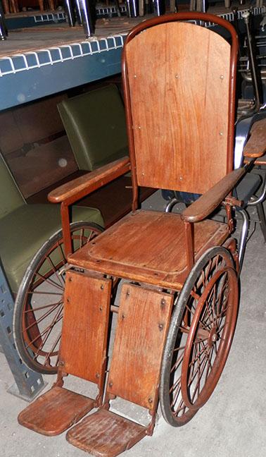 Vintage Wood Wheelchair