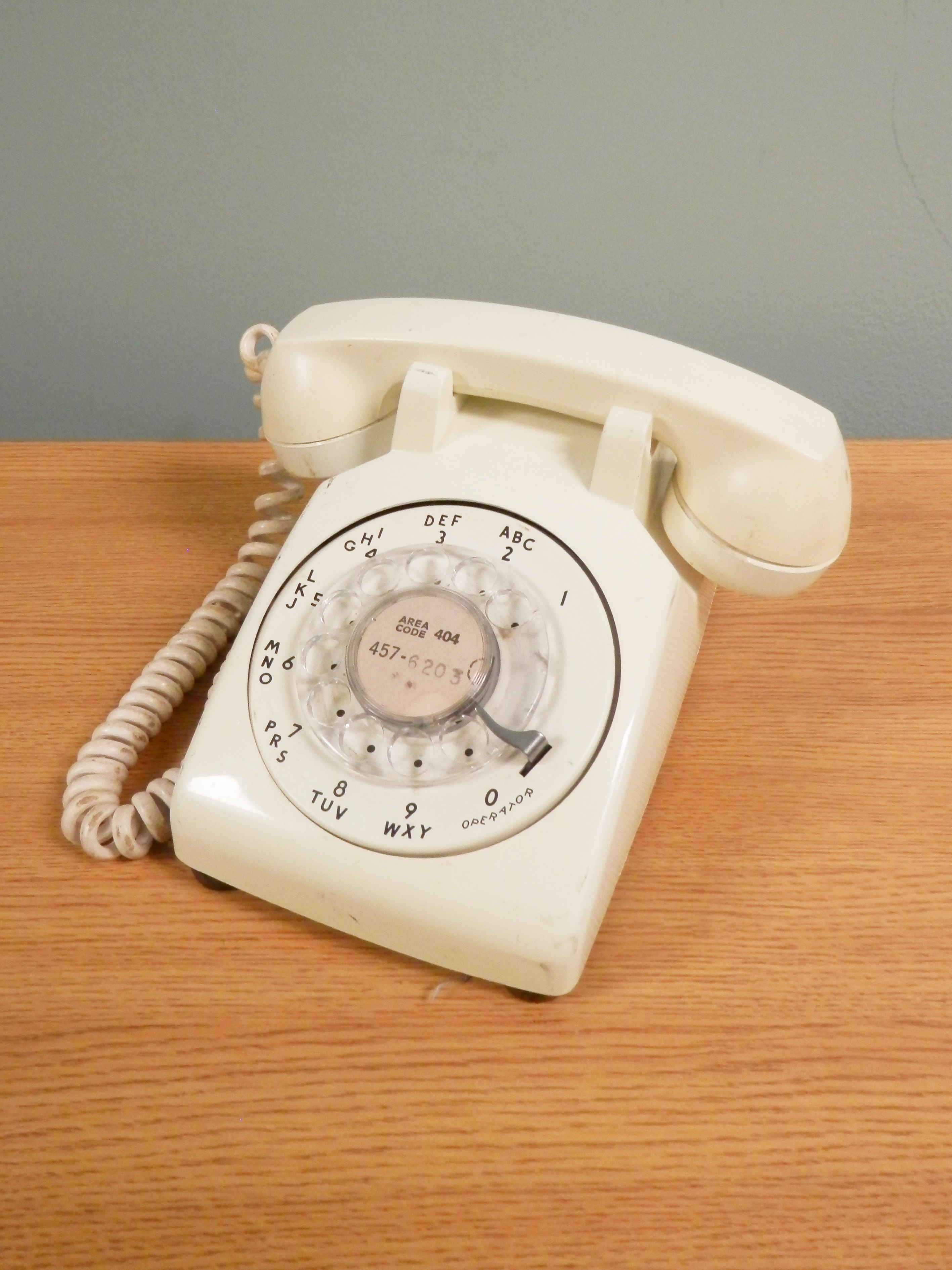 Rotary Telephone white