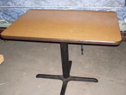 Diner Table with Metal Pedestal Base