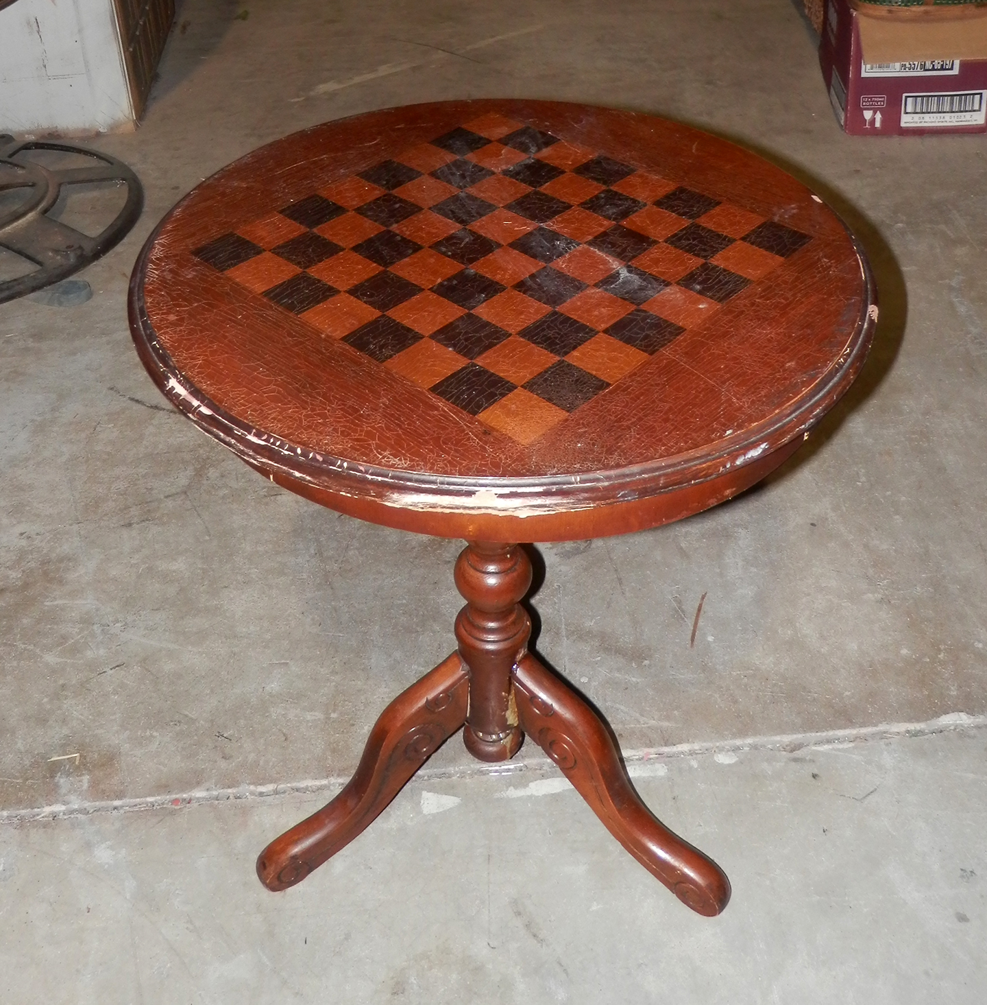 Chessboard Design Side Table